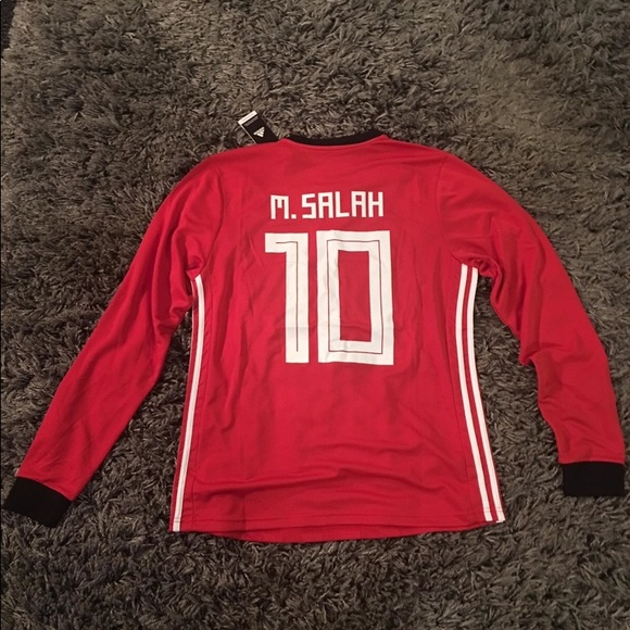 4bdd39e9 adidas Tops | Mo Salah Egypt Jersey Soccer World Cup | Poshmark